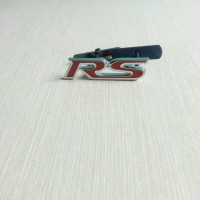 Jual Emblem Grill RS Chrome Merah Bahan Besi Murah