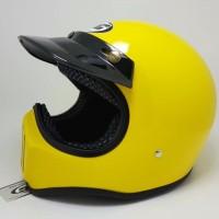 Helm Cakil Yellow Glossy / Helm Cakil Retro / Helm Cakil HBC / Helm