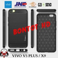 CASING IPAKY CARBON SLIM CASE COVER ARMOR TPU FOR HP VIVO V5 PLUS / X9