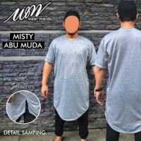 Gamis Kaos Pakistan Abu Misty Muda Baju Koko Grey Lengan Pendek