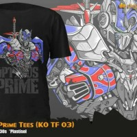 Kaos Anime Movie Transformer Special Optimus Prime T-Shirt (KO TF 03)