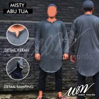 Jual Gamis Kaos Pakistan Abu Misty Tua Baju Koko Grey Lengan Panjang Murah