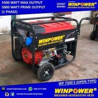 Genset / Generator Winpower 5000 Watt, Electric Starter (WP 7500 E)