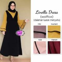 LINELLA DRESS - maxy - baju kerja muslim wanita - hijab model baru