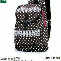Tas ransel gendong anak wanita murah-tas sekolah terbaru hitam dot gf