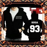 jaket sweater hoodie zipper BTS ARMY SUGA V JUNG KOOK DLL