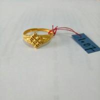 Cincin Emas asli model ciduk variasi Kadar 916 Emas 23 karat