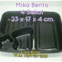Tray Bento Sekat Hitam/Box Bento/Mika Lunch Box/Mika Bento