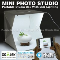 Jual Mini Photo Studio Box Folding Kotak Tempat Foto Portable with LED Murah