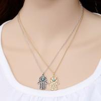 Jual Kalung Tangan Vintage Hamsa Hand Fatima Arab India Silver Gold Murah