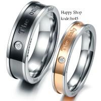 cincin couple/cincin tunangan/Titanium asli free ukir nama.