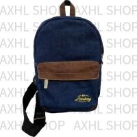 Jual Lomberg Navy Shoulder Sling Bag - Tas Punggung Waterproof Dry Denim Murah