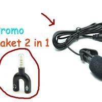 Mic/Microphone Untuk PC dan hp bonus Spliter Audio Shape U