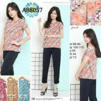 Cut Shoulder Blouse Batik / Batik Sabrina Blouse / Atasan Batik Wanita