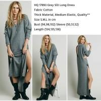 Grey Slit Long Dress (size S.M.L)