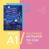Cetak Poster Art Paper A1 - Ukuran 841 mm x 594 mm
