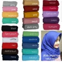 Jilbab Segi Empat Katun Rawis (Erow) Harga Promo Hijab