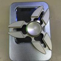 fidget spinner spin shuriken ninja metalik metal premium original
