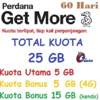 harga Kartu Perdana Internet Three 25gb Tri 5gb Gm 3 10 Gb 4g 10gb Kendo Aon Tokopedia.com