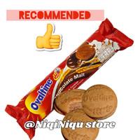 Jual Ovaltine Thailand Chocolate Malt Sandwich Cookies Halal RECOMMENDED! Murah