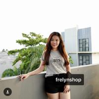 Grosir kaos MISTY/ Fashion wanita/ Kaos oblong murah JB T S ABU ABU