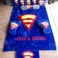 Karpet karakter lucu, Toko karpet bulu online, Karakter logo superman