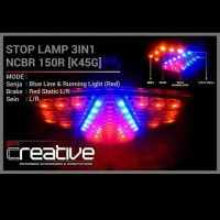 stoplamp cbr 150 3 in 1 cbr new facelift by ecreative