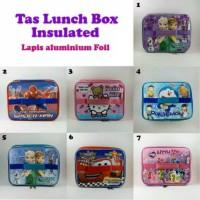 Tas bekal anak karakter / kotak makan / lunch box insulated alumunium