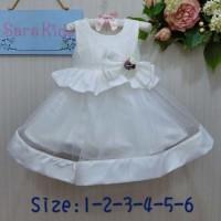 Dress Anak Import White  Baju Pesta Anak   Gaun Pesta Anak AGD2744