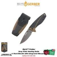 Gerber Myth Folder Drop Point Folding Knife Sheath with Sharpener #31-
