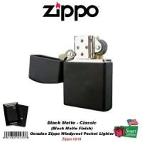 Zippo Black Matte Lighter, Regular, Genuine USA Windproof #218