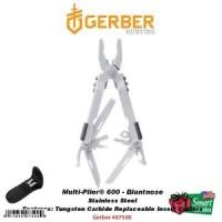 Gerber Multi-Plier 600, Bluntnose, Stainless Steel Tool MP600, w/Sheat