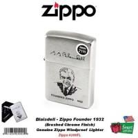 Zippo Founder's Lighter, Blaisdell Founded 1932, Brushed Chrome #200FL