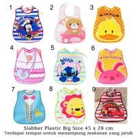 Slabber Plastic / Celemek Bayi / Slaber Plastik Waterproof / Baby Bib