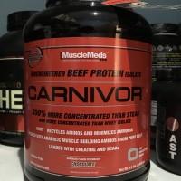 Jual Musclemeds Carnivor Whey 4lbs 100% Beef Protein isolate 4.6lbs 4,5 lbs Murah