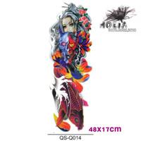 QB-3019 44x17CM - Temporary Tattoo - Tato Stiker Mesin Ukuran Lengan
