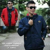 jaket parka vans bb simple navy merah