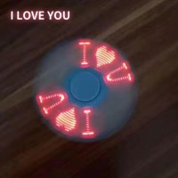 ANGEL LED Fidget Spinner Tulisan I Love U - Random Colour