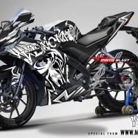 Decal stiker Yamaha R15 V3 Black Venom (FULLBODY)