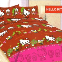 speri size 180 Sprei 3D Disperse BONITA 180x200 Motif HELLO KITTY PLAY