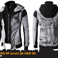 JA GDO 12 - Jaket Gundam OOQ Double Zipper Hoodie - Celestial Being