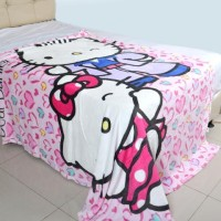 Platinum Selimut Bulu Original Hello kitty and Mimi