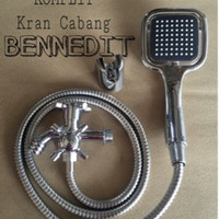 NEW!! Komplit Kran Cabang! Hand Shower Mandi Set Kotak Segi BENNEDIT
