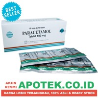Paracetamol 500 mg Strip Parasetamol - Obat Demam, Panas, Nyeri