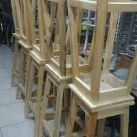 Jual kursi bar stool kayu murah tinggi 75 kursi baso bakso barstool stand Murah