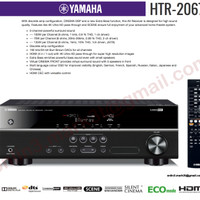 Yamaha HTR 2067 home theater receiver amplifier sl onkyo denon marantz