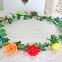 Jual mahkota kepala bunga melingkar / flower flowers crown Murah
