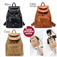 Tas Import Backpack Wanita 335 Ransel Casual Trendy