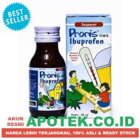 Proris Forte Sirup 50 ml Cair - Ibuprofen - Obat Demam, Nyeri, Panas