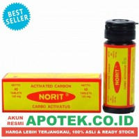 Norit Tablet - Carbo Actifated - Obat Diare, Sakit Perut